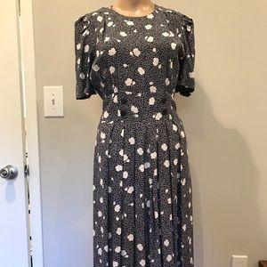 Vintage 1980s flower print dress - mint condition